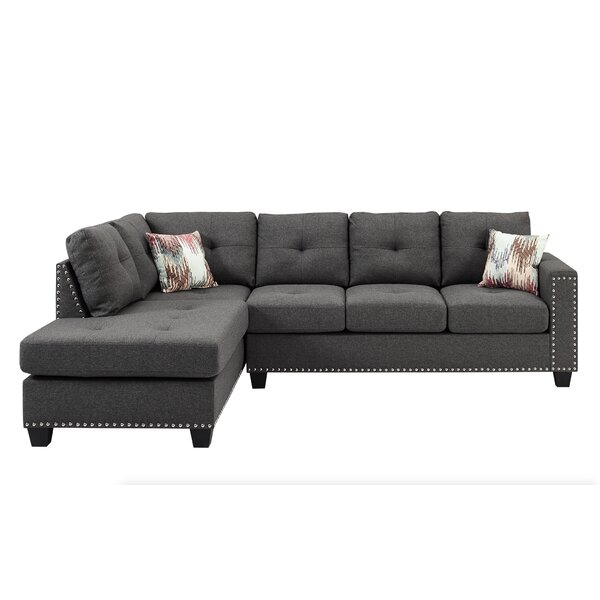 Beautiful Modern Menendez Reversible Sectional with Ottoman by Latitude Run by Latitude Run