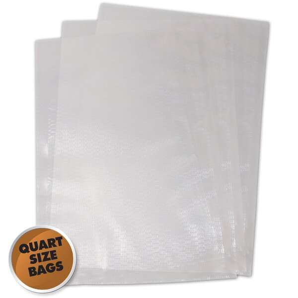 1 Quart Vacuum Sealer Bag (Set of 100) by Weston