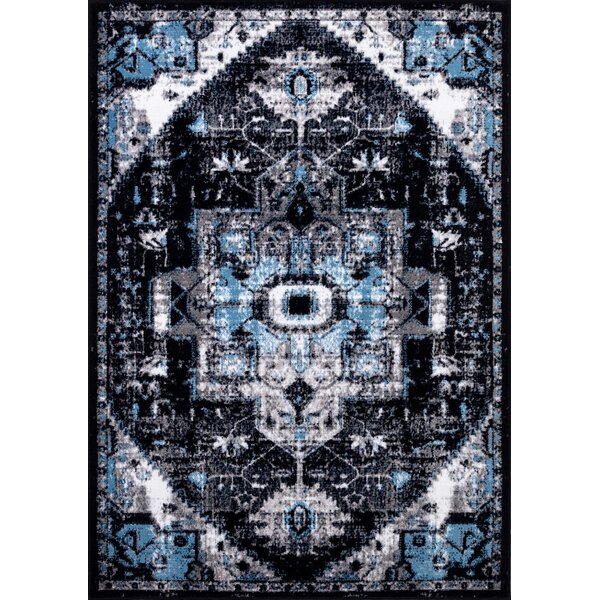Detwiler Blue/Gray Area Rug by World Menagerie