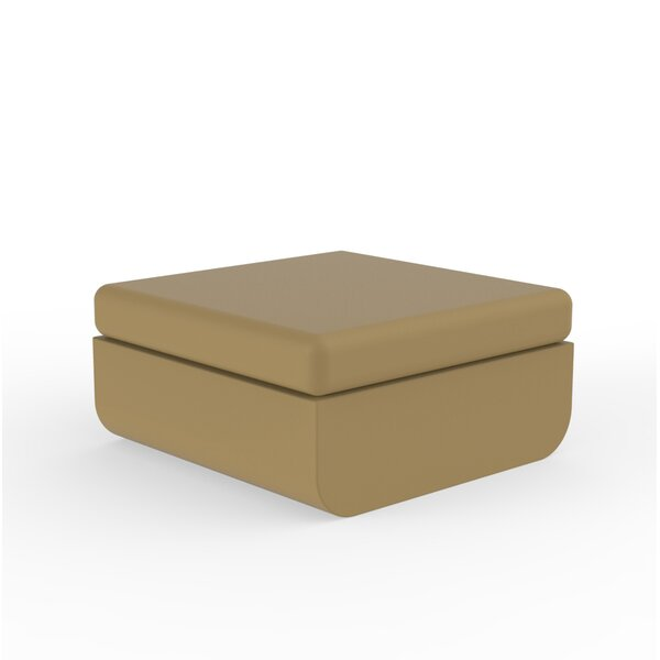 Ulm Lacquered Outdoor Ottoman with Cushion