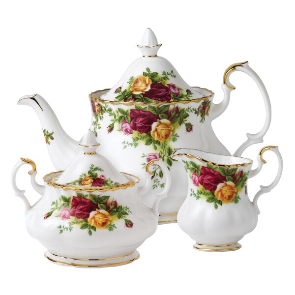 Old Country Roses 3 Piece Teapot Set by Royal Albert