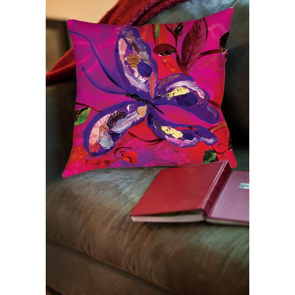 Butterfly Printed Throw Pillow by Manual Woodworkers & Weavers