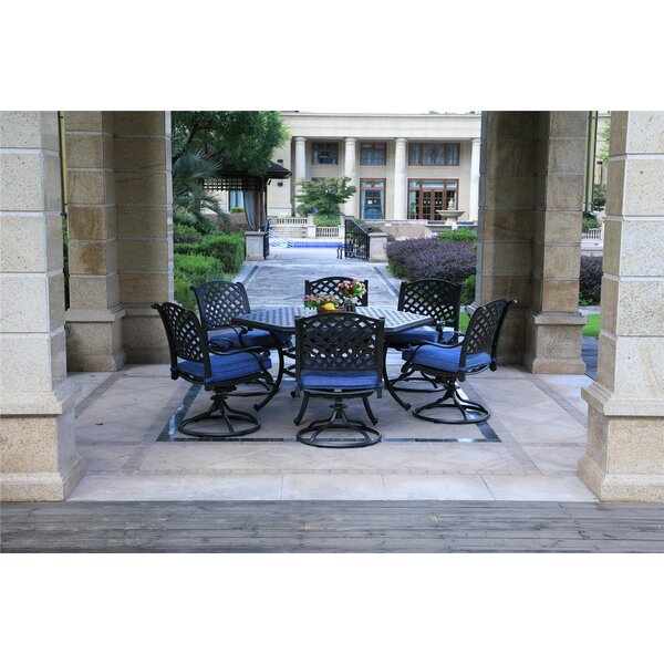 Rakhi 7 Piece Dining Set with Cushions by Charlton Home