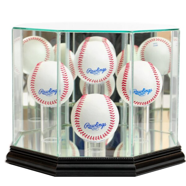 Octagon Four Baseball Display Case by Perfect Cases and Frames