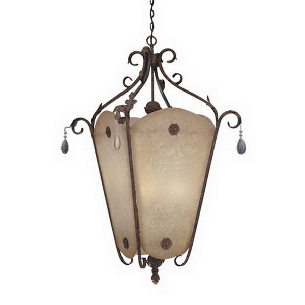 Saratoga 9 - Light Lantern Geometric Chandelier By Fleur De Lis Living