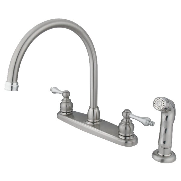 Pull Down Double Handle Kitchen Faucet by Kingston Brass