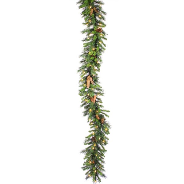 1350  PVC Tips Pine Garland with 300 LED Lights by The Holiday Aisle