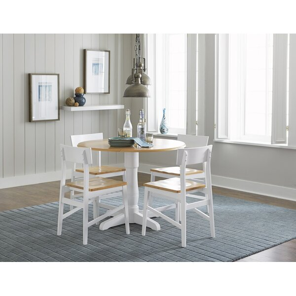 Finley Round 5 Piece Drop Leaf Dining Set by Beachcrest Home
