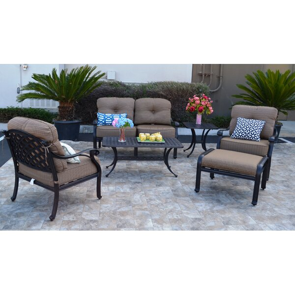 Nola 6 Piece Sunbrella Sofa Set with Cushions by Darby Home Co