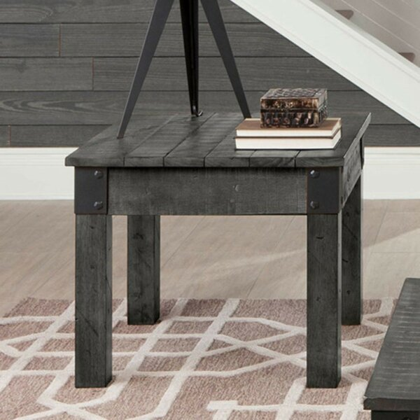 Alleyne Industrial Solid Wooden End Table By Williston Forge No Copoun