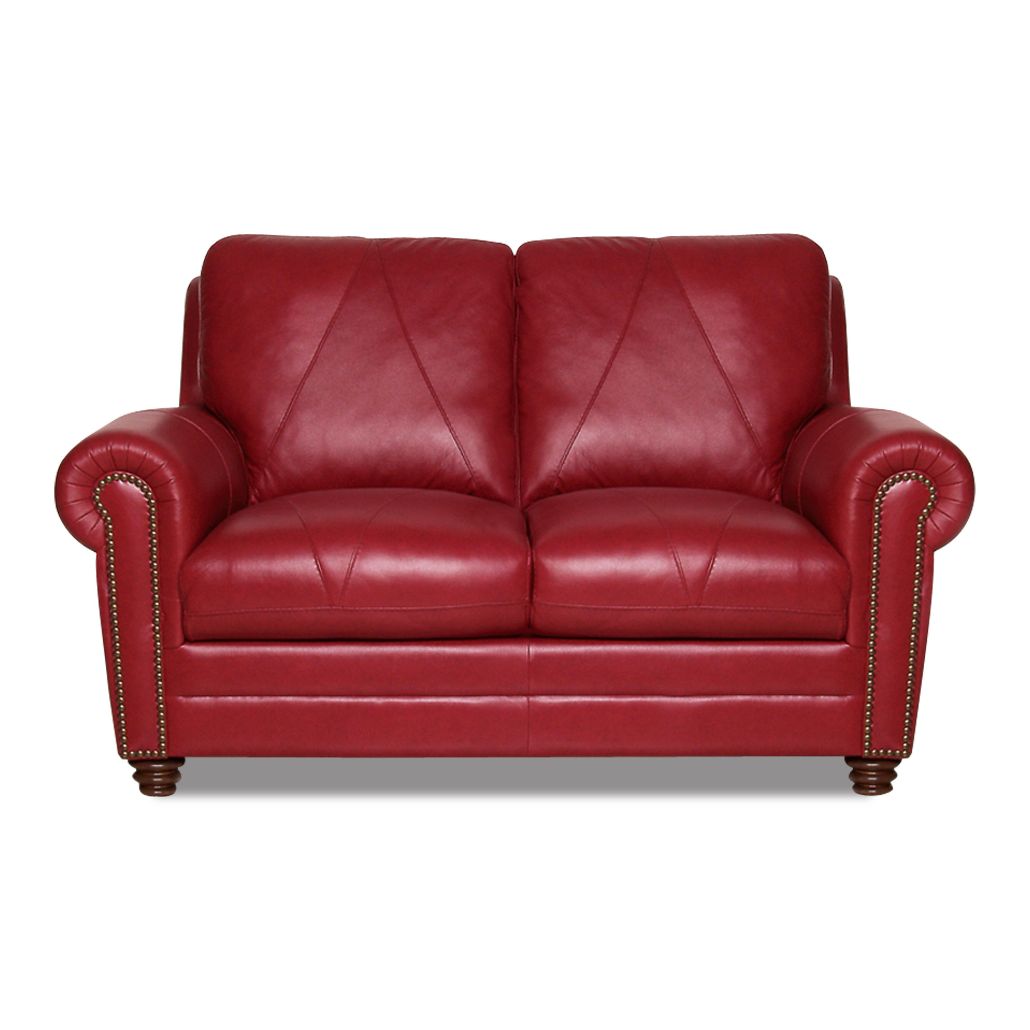 Terrific Priddy Leather Loveseat Machost Co Dining Chair Design Ideas Machostcouk