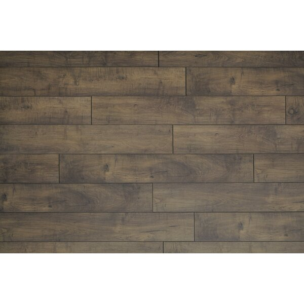 Restoration Wide Plank 8'' x 51'' x 12mm Maple Laminate Flooring in Acorn by Mannington