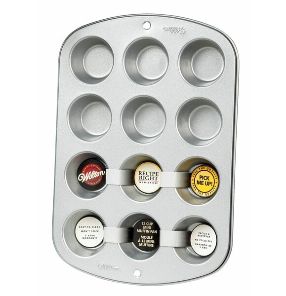 12 Cup Non-Stick Rectangle Mini Muffin Pan by Wilton