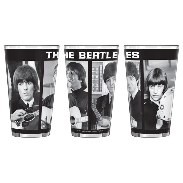 Beatles 1965 Sublimated Collectible Pint Glass by Boelter Brands