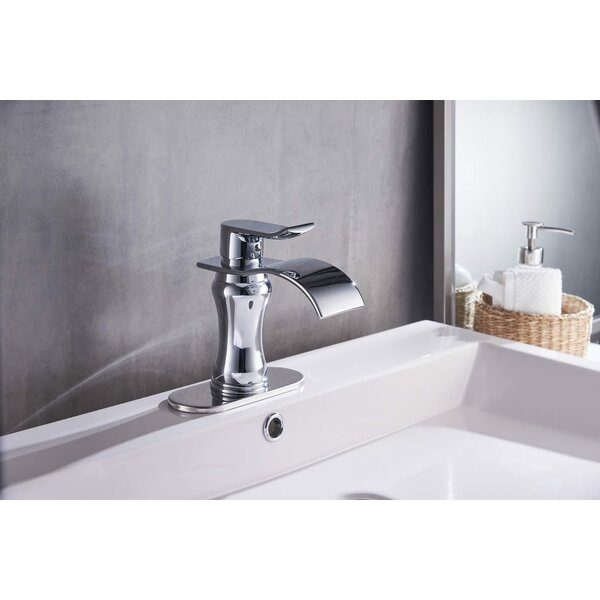 Waterfall Single Hole Bathroom Faucet with Drain Assembly