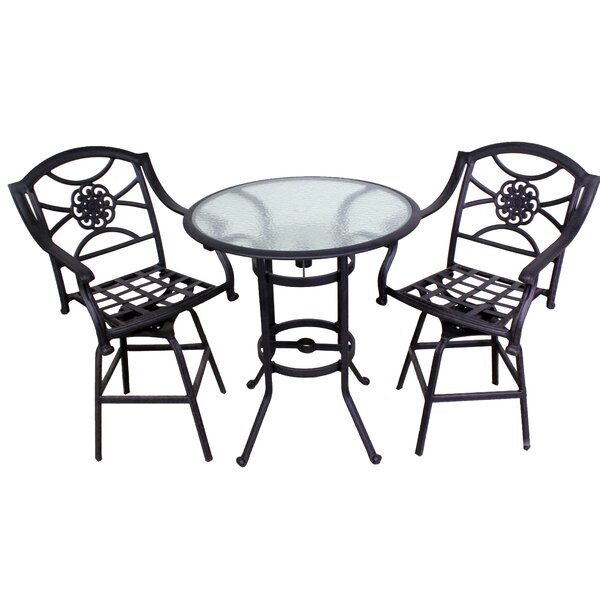 Ross 3 Piece Bistro Set by Fleur De Lis Living
