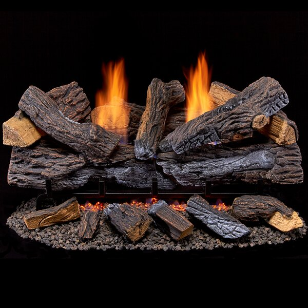 Ventless Dual Fuel Gas Log Set by Duluth Forge