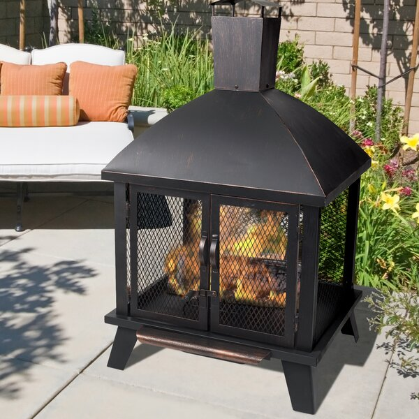 Stratford Steel Wood Burning Fire Pit by Pleasant Hearth