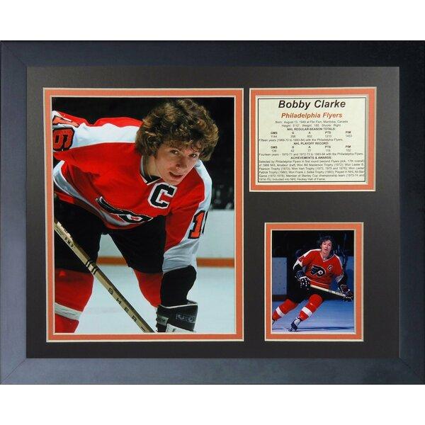 Bob Clarke Philadelphia Flyers Framed Memorabilia by Legends Never Die