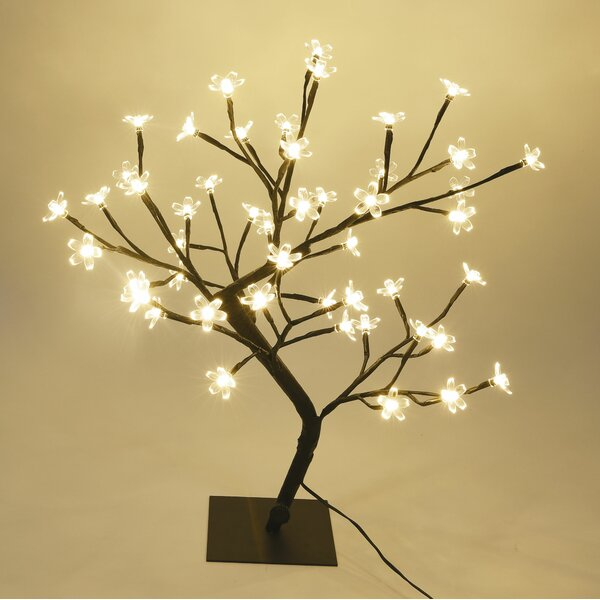 Cherry Blossom Bonsai Tree 48 LED String Lights by The Holiday Aisle