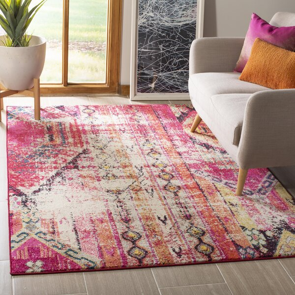 Alfred Tibetan Pink Area Rug by Bungalow Rose