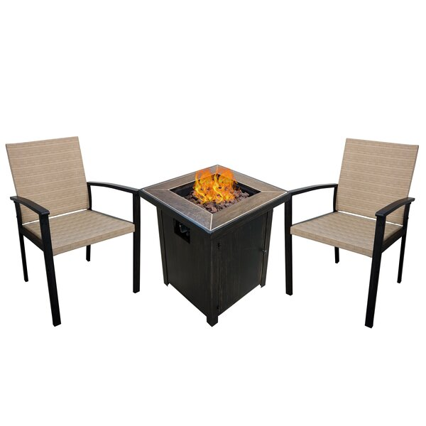 Eastvale Willowbrook 3 Piece Conversation Set by Charlton Home