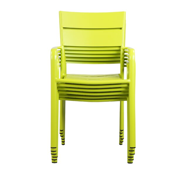 MMI Stacking Patio Dining Chair (Set of 6) by Brayden Studio Brayden Studio