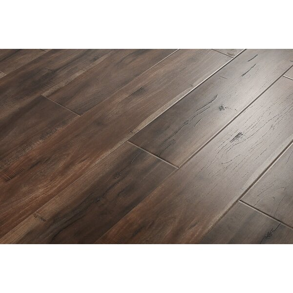 Alvaro 6 x 48 x 12mm Cumaru Laminate Flooring in Smokey Dark Brown by Serradon