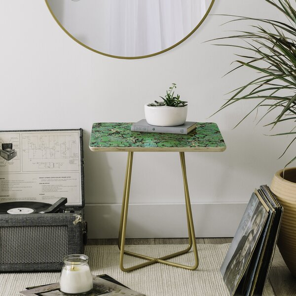 Amy Sia Marble Bubble Mint End Table By East Urban Home