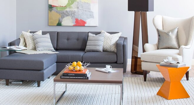 Modern Living Room on a Budget | Wayfair