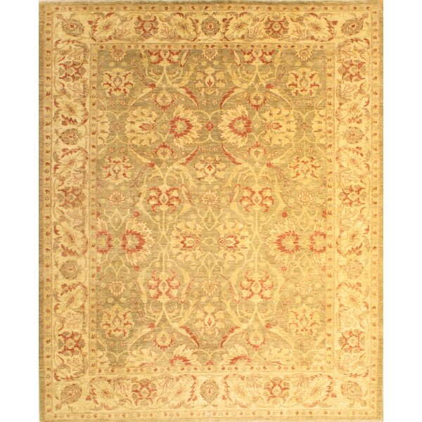 One-of-a-Kind Hand-Knotted Golden 8' x 10' Wool Area Rug