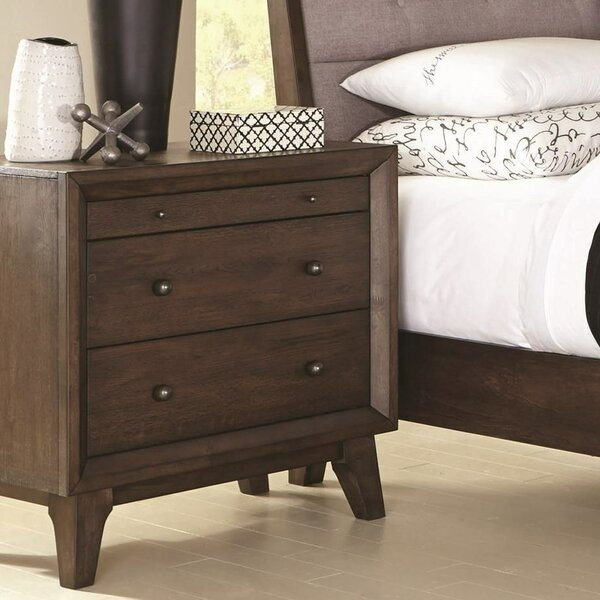 Chaz Top Felt-Lined 3 Drawer Nightstand by Corrigan Studio
