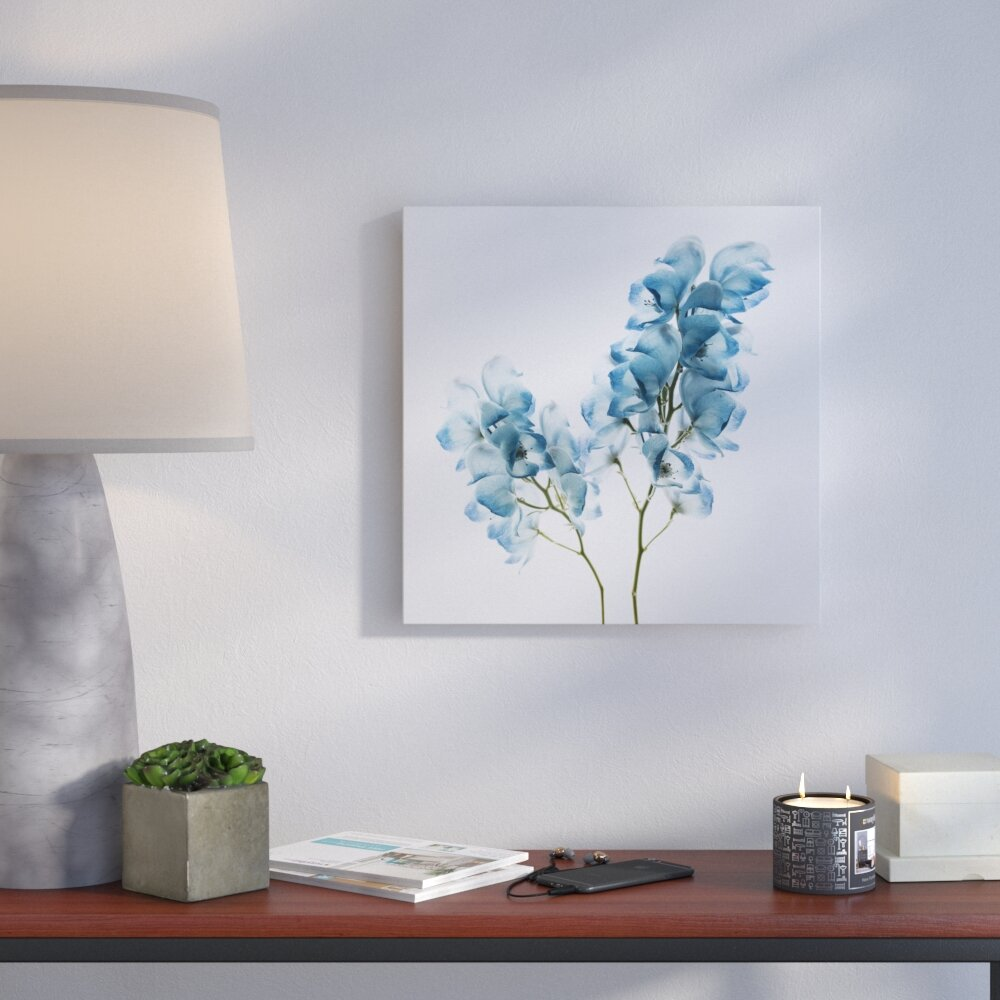Bronx Blue Bedroom Project: Ivy Bronx 'Gorgeous Blue II' Oil Painting Print On Wrapped
