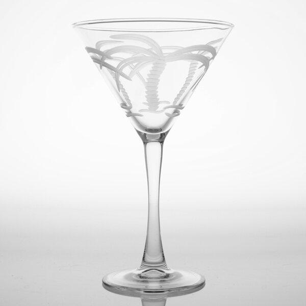Palm Tree 10 Oz Martini Glass (Set of 4) by Rolf Glass