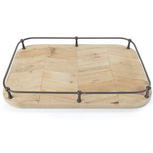 Rectangle Brown Metal Tray