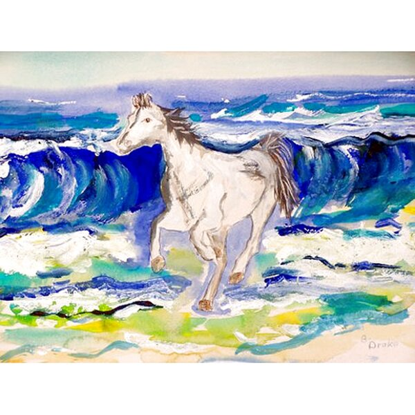 Horse and Surf Placemat (Set of 4) by Betsy Drake Interiors