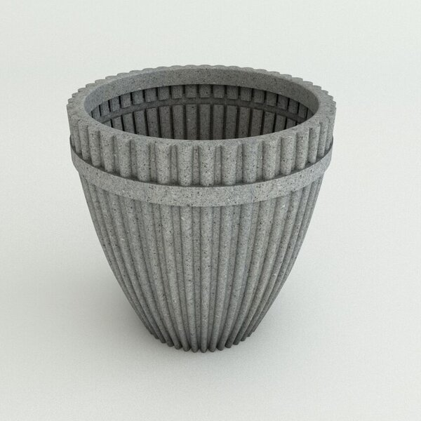 Fluted Resin Pot Planter by TerraCast Products