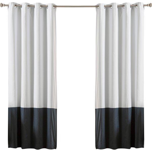 Lutz Color Block Cotton Blend Striped Blackout Thermal Grommet Curtain Panels Reviews Joss Main