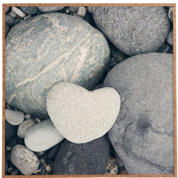 My HeArt Shaped Rock by Catherine McDonald Framed Photographic Print by Deny Designs
