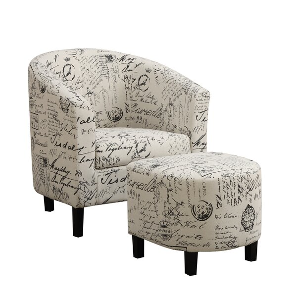 Emory Barrel Chair With Ottoman By Charlton Home
