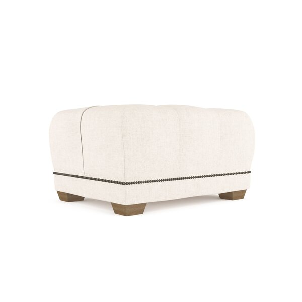 Augill Vintage Leather Ottoman by Canora Grey