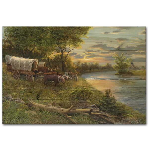 Settling the Land Painting Print Plaque by WGI-GALLERY
