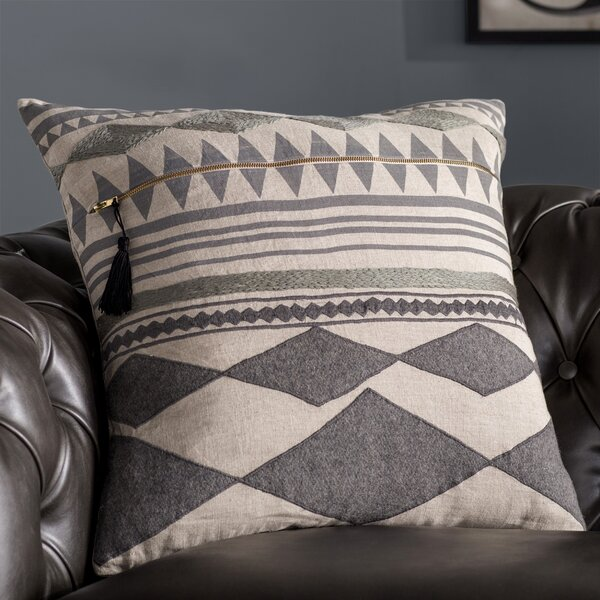 Ryley Tribal Pattern Linen Throw Pillow by Mistana