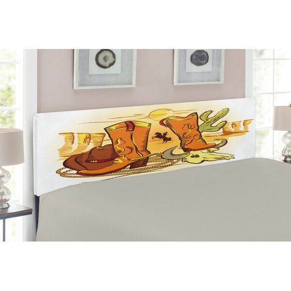 Western Upholstered Panel Headboard by East Urban Home