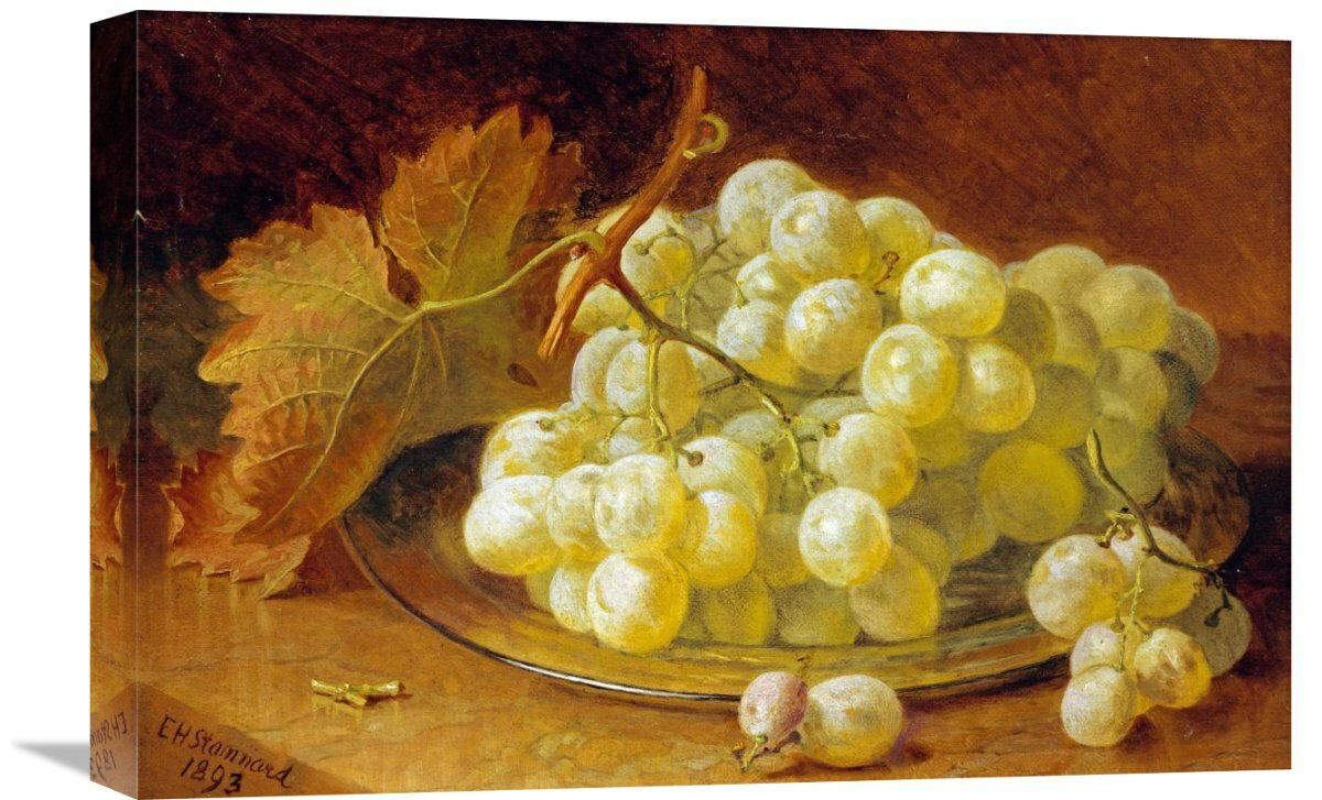 Global Gallery \'Grapes on a Silver Plate\' by Eloise Harriet Stannard ...