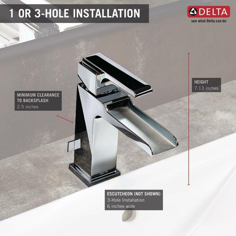 6 inch centerset bathroom faucet. Ara Centerset Lavatory Faucet with Channel Spout and Pop Up Drain Delta
