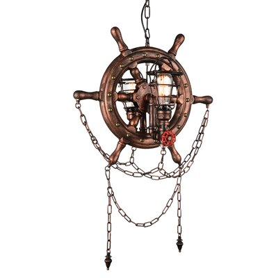 Mekhi 2-Light Novelty Chandelier Breakwater Bay