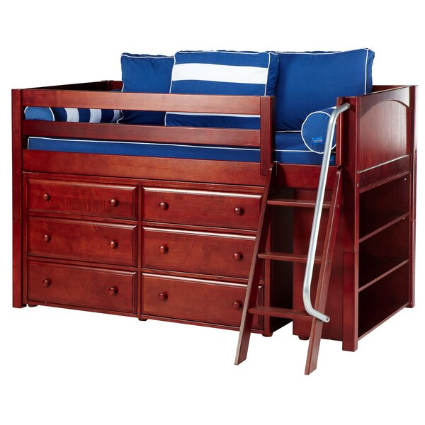 Bopp Twin Low Loft Bed with Drawers by Harriet Bee