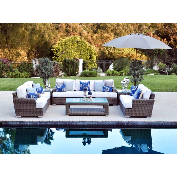 Palisades Deep Sunbrella Seating Group with Cushions by Patio Heaven