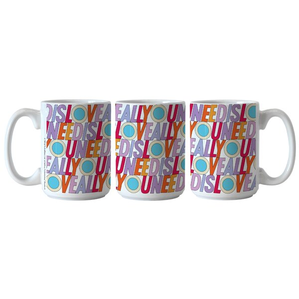 Beatles All You Need Is Love Sublimated Mug by Boelter Brands